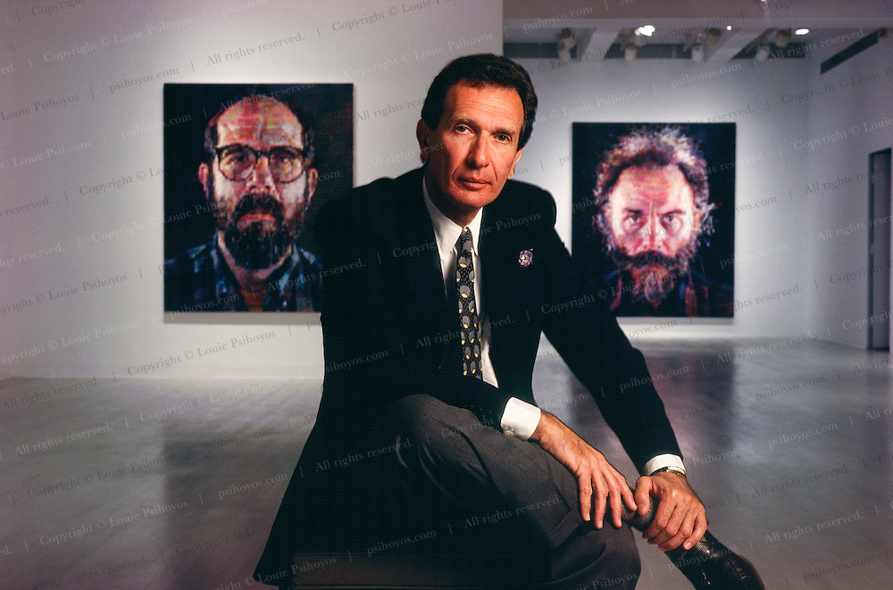 Arne Glimcher - Director of the Pace Gallery in New York (Chuck Close paintings behind him) became a movie producer and director.  He produced and directed The White River Kid, Just Cause, and the Mombo Kings.