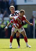 Photo: Olly Greenwood.<br />Charlton Athletic v Sheffield United. The Barclays Premiership. 21/04/2007. Charlton's Dennis Rommedahl and Sheffield United's Matthew Kilgallon