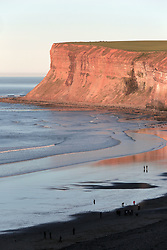 © Under licence to London News Pictures. 25/03/2017. Huntcliff cliffs at Saltburn-by-the-Sea, North East England. The bodies of two 17-year-old boys were found at the foot of the cliffs on Friday evening by police and coastguards . Photo Credit: Stuart Boulton/LNP