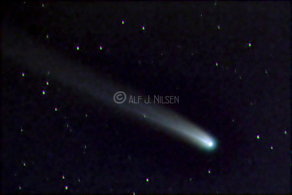 Comet 153P Ikeya-Zhang from March 2002. Picture taken from Hidra, south-western Norway.