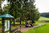 21-09-2015: Golf Resort Karlovy Vary in Karlovy Vary (Karlsbad), Tsjechië.<br /> Foto: Holebord hole 16