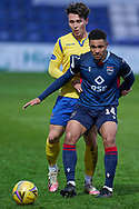 Jermaine Hylton for Ross County during the Scottish Premiership match between Ross County FC and St Johnstone FC at the Global Energy Stadium, Dingwall, Scotland on 2 January 2021during the Scottish Premiership match between Ross County FC and St Johnstone FC at the Global Energy Stadium, Dingwall, Scotland on 2 January 2021