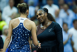 September 5, 2018 - Flushing Meadow, NY, U.S. - FLUSHING MEADOW, NY - SEPTEMBER 04: KAROLINA PLISKOVA (CZE) and SERENA WILLIAMS (USA) day nine of the 2018 US Open on September 04, 2018, at Billie Jean King National Tennis Center in Flushing Meadow, NY. (Photo by Chaz Niell/Icon Sportswire) (Credit Image: © Chaz Niell/Icon SMI via ZUMA Press)