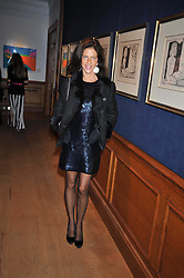 CLEO GOLDSMITH at fundraising dinner and auction in aid of Liver Good Life a charity for people with Hepatitis held at Christies, King Street, London on 16th September 2009.