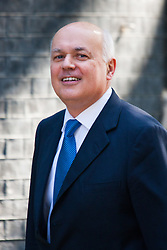 London, July 22nd 2014. Secretary of State for Work and Pensions Ian Douglas Smith arrives at the cabinet meeting at Downing Street.