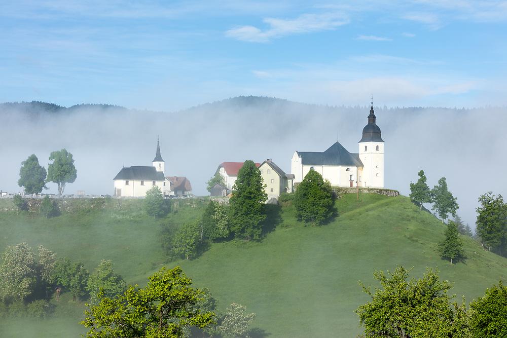 Cerkev Sv. Lenart Church, Loski Potok, Ribnica, Slovenia
