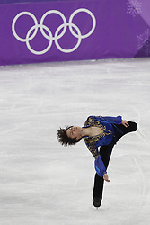 February 17, 2018 - Pyeongchang, KOREA - Shoma Uno of Japan competes in the men's figure skating free skate program during the Pyeongchang 2018 Olympic Winter Games at Gangneung Ice Arena. (Credit Image: © David McIntyre via ZUMA Wire)