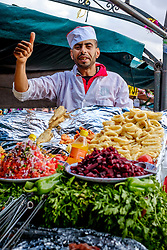 Food stall in the Jemaa El Fna, Marrakech, Morocco, North Africa<br /> <br /> (c) Andrew Wilson | Edinburgh Elite media