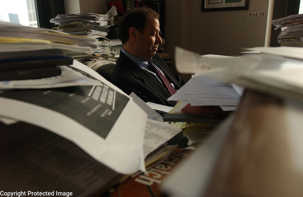 Lawyer Joshua Dratel is seen in his office in Manhattan, NY. Dratel will appear before the first military tribunal in 50 years when he defends someone in Guantanamo Bay. 3/26/2004 Photo by Jennifer S. Altman
