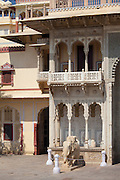 The Maharaja of Jaipur's Moon Palace in Jaipur, Rajasthan, India
