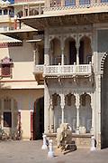 The Maharaja of Jaipur's Moon Palace in Jaipur, Rajasthan, India