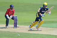 Hampshire captain Sean Ervine batting during the Royal London One Day Cup match between Hampshire County Cricket Club and Essex County Cricket Club at the Ageas Bowl, Southampton, United Kingdom on 5 June 2016. Photo by David Vokes.
