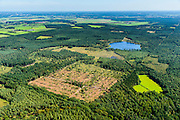 Nederland, Noord-Brabant, Breda, 23-08-2016; <br /> Chaamsche Bosschen met lokatie retentiebekken, opvangmogelijkheid voor overtollig water.<br />  Woods southeast of Breda, location retention basin for excess water.<br /> <br /> aerial photo (additional fee required); <br /> luchtfoto (toeslag op standard tarieven);<br /> copyright foto/photo Siebe Swart