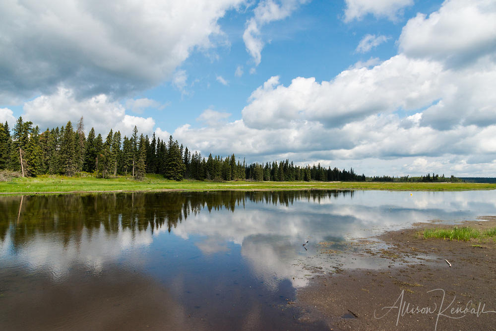 Whirlpool Lake on a bright summer afternoon, in Riding Mountain National Park, Manitoba