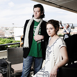 """French singer and actor Benjamin Biolay with Belgian actress Emilie Dequenne at the 63rd Cannes Film Festival for the movie """"La Meute"""". France. 18 May 2010. Photo: Antoine Doyen"""