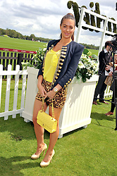 SASKIA BOXFORD at the Cartier Queen's Cup Polo Final, Guards Polo Club, Windsor Great Park, Berkshire, on 17th June 2012.
