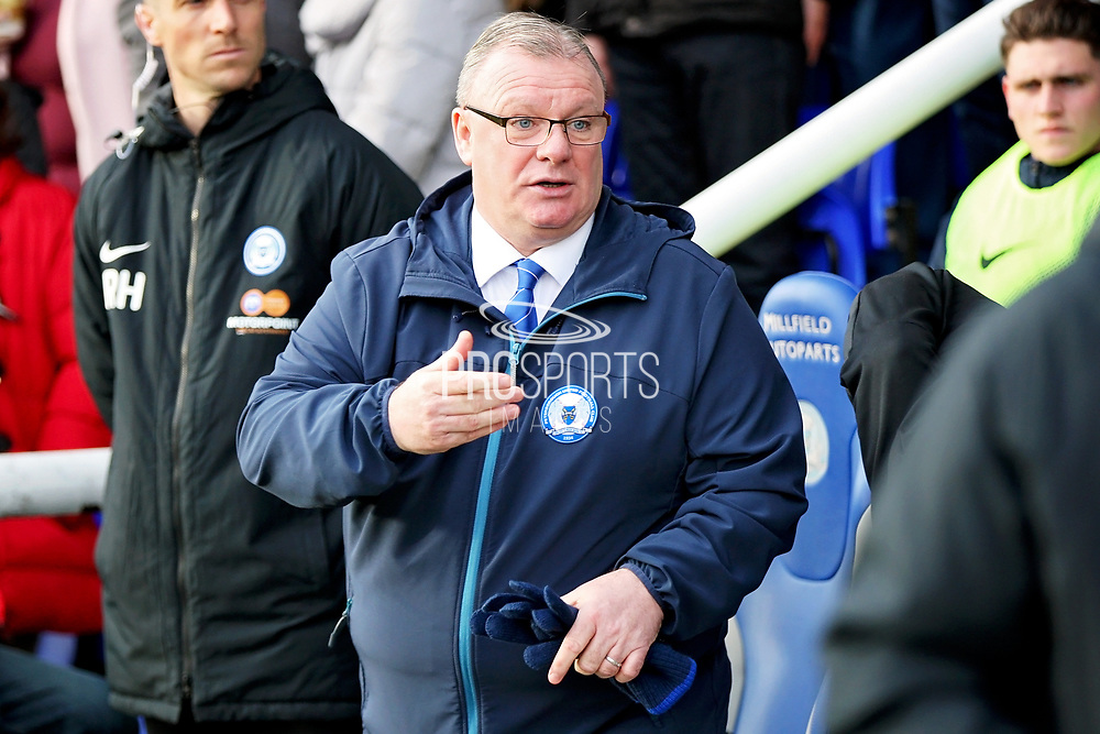 Peterborough Manager Steve Evans SACKED after the EFL Sky Bet League 1 match between Peterborough United and Charlton Athletic at London Road, Peterborough, England on 26 January 2019.