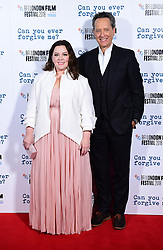 Melissa McCarthy and Richard E. Grant attend the Can You Ever Forgive Me screening at Cineworld Leicester Square during the 62nd BFI London Film Festival.