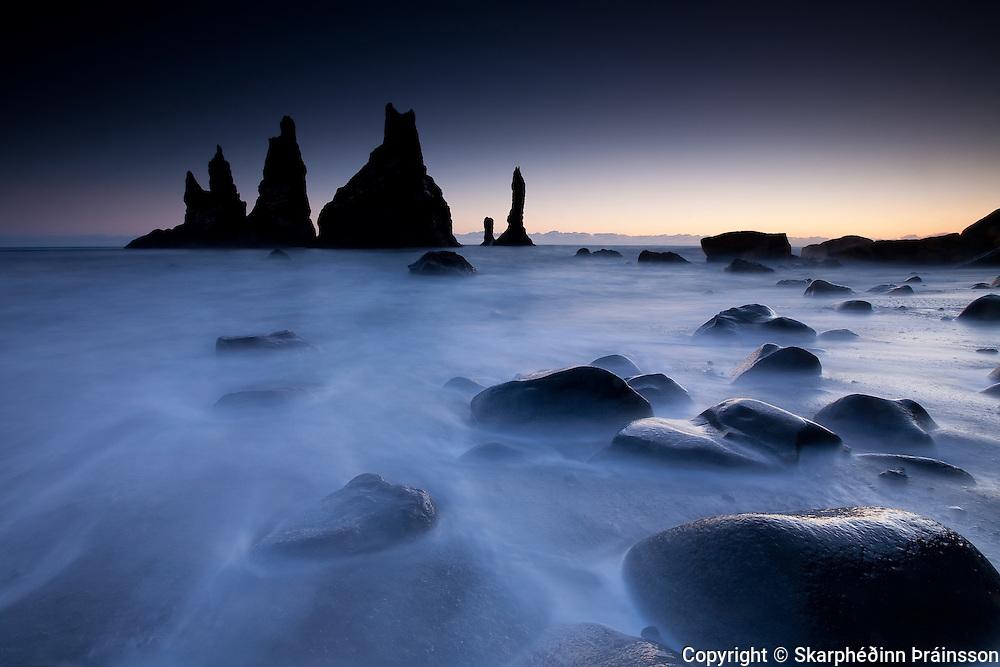 The Hidden Castle - Reynisdrangar pinnacles in Vík, Mýrdalur south coast Iceland