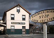 Remarkably, the historic East Brioad Top railroad station at Orbisonia still stands with very little change since the railraod was abandoned many years ago.
