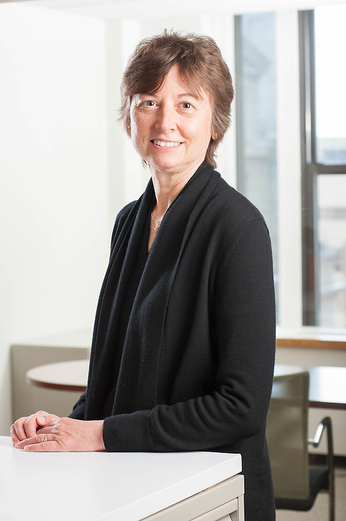 Melville Charitable Trust's Executive Director Janice Elliott photographed in the non-profit's offices on Beacon Hill in Boston.