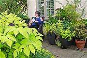 Mixed flora, Mansion, Chanticleer Gardens, Wayne, PA