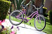 Girls Pink Bicycle Stock Photo