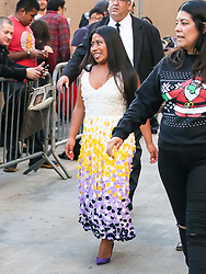 Yalitza Aparicio is seen arriving at 'Jimmy Kimmel Live' in Los Angeles, California. 19 Dec 2018 Pictured: Yalitza Aparicio. Photo credit: BG017/Bauergriffin.com / MEGA TheMegaAgency.com +1 888 505 6342