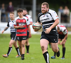 Pontypridd's Joe Popple<br /> Cross Keys v Pontypridd RFC<br /> <br /> Photographer Mike Jones / Replay Images<br /> Pandy Park, Cross Keys.<br /> Wales - 12th May 2018.<br /> <br /> Cross Keys v Pontypridd RFC<br /> Principality Premiership<br /> <br /> World Copyright © Replay Images . All rights reserved. info@replayimages.co.uk - http://replayimages.co.uk