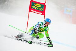 Zan Groselj of Slovenia competes during 1st run of Men's GiantSlalom race of FIS Alpine Ski World Cup 57th Vitranc Cup 2018, on March 3, 2018 in Kranjska Gora, Slovenia. Photo by Ziga Zupan / Sportida