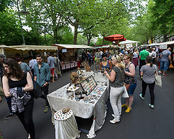 Farmer's market at weekend on Kollwitzplatz in Prenzlauer Berg in Berlin Germany