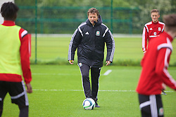 NEWPORT, WALES - Saturday, May 21, 2016: Tim Sherwood during his practical demonstration of team rotation and balance during the Football Association of Wales' National Coaches Conference 2016 at Dragon Park FAW National Development Centre. (Pic by David Rawcliffe/Propaganda)