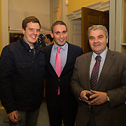 08.12.2016                   <br /> Pictured at the launch of the Shannon Airport Christmas Racing Festival at Hunt Museum were, Gavin Sheill, Conor O'Neill and Seamus Hennessy. Picture: Alan Place