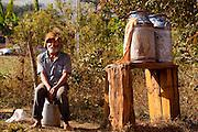 Prados_MG, Brasil...Retrato de um produtor de leite em Prados, Minas Gerais...A farm laborer portrait, He produces milk...Foto: LEO DRUMOND / NITRO
