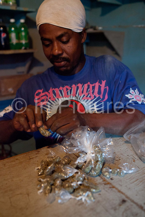 Ganja, weed, marijuana. Murray mountain, in the hills near Nine Mile, Jamaica.