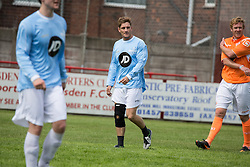 © Licensed to London News Pictures . 02/08/2015 . Droylsden Football Club , Manchester , UK . PHILIP OLIVIER . Celebrity football match in aid of Once Upon a Smile and Debra , featuring teams of soap stars . Photo credit : Joel Goodman/LNP