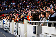 Fans in the stand during the FA Women's Super League match between Tottenham Hotspur Women and Arsenal Women FC at Tottenham Hotspur Stadium, London, United Kingdom on 17 November 2019.