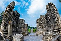 Avantiswamin Temple ruins, Pulwama, Kashmir, Jammu and Kashmir State; India.