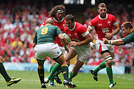 Jamie Roberts of Wales looks to go past Ricky Januarie of South Africa. Wales v South Africa,    at Millennium Stadium in Cardiff on Sat 5th June 2010. pic by Andrew Orchard,  Andrew Orchard sports photography,