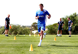 Joe Partington of Bristol Rovers does rehabilitation work as Bristol Rovers train on their first day in Portugal - Mandatory by-line: Robbie Stephenson/JMP - 18/07/2017 - FOOTBALL - Colina Verde Golf & Sports Resort - Moncarapacho, England - Sky Bet League One