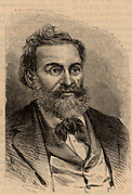 Louis Favre (d1879) Swiss railway engineer awarded the contract for the construction of a rail tunnel through the Alps under the St Gothard Pass.  From 'La Science Illustree' (Paris, 1895). Engraving.