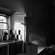 Paris, France, 2004: View of the kitchen, Jaoul house (1952) at 82 bis, rue de Longchamp - Le Corbusier arch - . Photographs by Alejandro Sala,(Historical archivi AS)