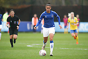 Everton forward Chantelle Boye-Hlorkah (7) with the ball during the FA Women's Super League match between Everton Women and Brighton and Hove Albion Women at the Select Security Stadium, Halton, United Kingdom on 18 October 2020.
