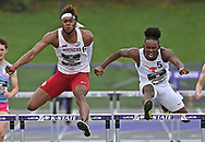Isaiah Levingston of Oklahoma competes during the Big 12 Outdoor Track & Field Championship at R.V. Christian Track & Field Complex on May 16, 2021 in Manhattan, Kansas.