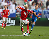 Aaron Ramsey of Wales in action. Euro 2016, Wales v Slovakia at Matmut Atlantique , Nouveau Stade de Bordeaux  in Bordeaux, France on Saturday 11th June 2016, pic by  Andrew Orchard