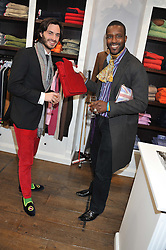 Left to right, VICOMTE MARCY de SOULTRAIT and ORLANDO HAMILTON at the launch party for the Vicomte A boutique in London at 113 King's Road, London SW3 on 13th December 2012.