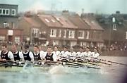 London, Great Britain, <br /> <br /> 147th Oxford vs Cambridge Varsity Boat Race, Over the Championship Course, Putney To Mortlake. 24.03.2001<br /> <br /> [Mandatory Credit: Peter SPURRIER/Intersport Images]<br /> <br /> Crews. <br /> <br /> Oxford UBC. Bow. Robin BOURNE-TAYLOR,  MF BONHAM, EB LILLEAHI, Ian WEIGJELL, Dan SNOW, Brian PALM. Matt SMITH cox JC MONCRIEFF.<br /> <br /> Cambridge UBC. Bow. JC SWAINSON, Lukas HIRST, TM EDWARDS-MOSS, RIck DUNN, Josh WEST, Tom STALLARD. Tim WOOGE and cox Christian CORMACK. [Mandatory Credit; Peter SPURRIER/Intersport Images]<br /> <br /> 20010324 University Boat Race, Putney to Mortlake, London, Great Britain.