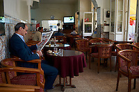 Maroc, Tanger, place du Petit Socco dans la medina// Morocco, Tangier (Tanger), Petit Socco square on the old city