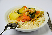 A plate of Vegetable couscous