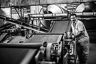 Tea estate factory, Munnar, Western Ghats Mountains, Kerala, India